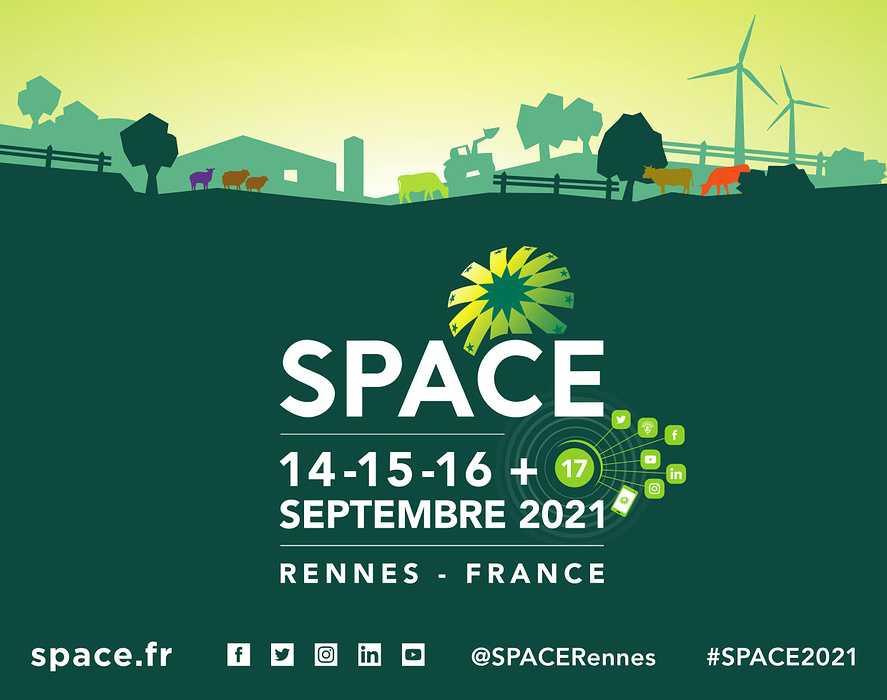 SPACE 2021 : rendez-vous Hall 5, Stand B32 les 14, 15 et 16 septembre 2021 et le 17 en ligne. 0